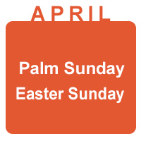 april palm and easter sunday